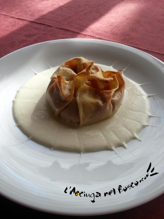 lasagnette con fonduta al parmigiano